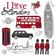 London doodles — Grafika wektorowa
