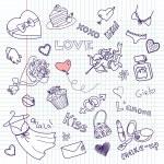 Valentine Doodles — Stock Vector #35399027
