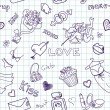 Love   Doodles — Stock Vector