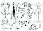 Boutique haute couture — Stock Vector