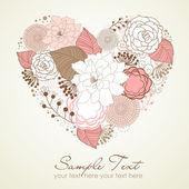 Floral heart shape — Stock Vector