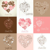 Greeting cards — Vetor de Stock