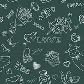 Doodle miłości. — Wektor stockowy
