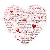 Love you languages — Cтоковый вектор