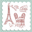 Cafe in Paris — Stock Vector