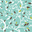 Pattern with branches — Stock Vector