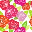 Stock Vector: Roses. pattern