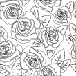 Floral Rose pattern — Stockvectorbeeld
