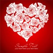 Rose heart — Vector de stock