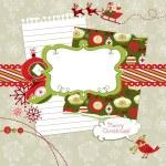 Christmas scrapbook elements — Stock Vector