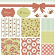 Vintage Rose Pattern — Stock vektor
