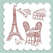 Café em paris — Vetorial Stock