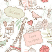 Love in Paris. — Stock Vector