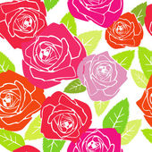 Roses. pattern — Stock Vector