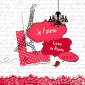 Love with Paris — Stock Vector