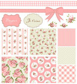 Vintage Rose Pattern — Vecteur