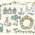 Summer doodles — Stock Vector