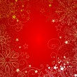 Red christmas background — Stok Vektör