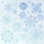 Snowflake Elements — Vector de stock