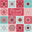 Snowflakes Card — Vector de stock #35499911