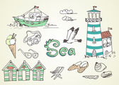 Summer Holidays Doodles — Vetorial Stock