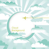 Clouds Background — Stock Vector