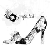 Love shoes — Vector de stock