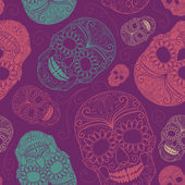 Background skulls — Vettoriale Stock