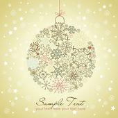 Christmas ball illustration. — Stock Vector