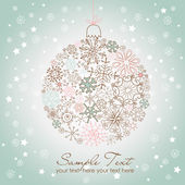 Vánoční koule ilustrace. — Stock vektor