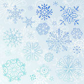 Snowflake Elements — Vector de stock