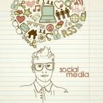 Social network doodles. — Stock Vector #35500041