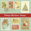Vintage Christmas postage — Stock Vector #35500311