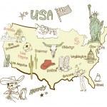 Map of America. — Stock Vector #35500819