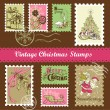Vintage Christmas postage — Stock Vector #35500317