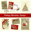 Stock Vector: Vintage Christmas postage
