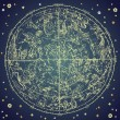 Vintage zodiac constellation of northen stars. — ベクター素材ストック