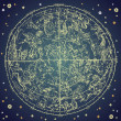 Vintage zodiac constellation of northen stars. — Stockvectorbeeld