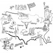 Map of America. — Stockvectorbeeld