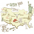 Map of America. — Vettoriale Stock