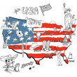 Map of America. — Stock Vector