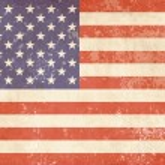 American flag Vintage — Stock Vector