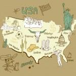 Map of America. — Stock Vector