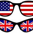 American and British flags — Stock Vector #35500873