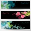 Floral headers — Stock Vector
