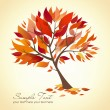 Beautiful Autumn Tree — Stockvektor