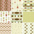 Pattern in aztec style — Vettoriali Stock