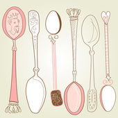 Vintage spoons — Stock Vector