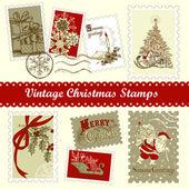 Vintage weihnachten-porto — Stockvektor
