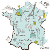 Map of France. — Stock Vector